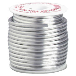Click here to see Oatey 29025 Safe-Flo 29025 Wire Solder, 1 lb Bulk, Solid, Silver Gray