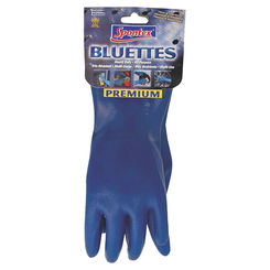 Click here to see Spontex 19005 Bluettes 19005 Household Protective Gloves, Large, Neoprene, Blue, 100% Cotton Jersey Lining