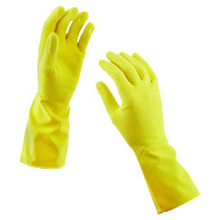 Click here to see Spontex 69982 Hand Care 69982 Protective Gloves, Medium, Latex, Yellow, Cotton Flock Lining