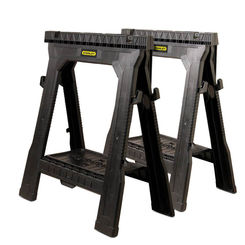 Click here to see Stanley 060864R FatMax 060864R Twin Pack Folding Saw Horse, 1000 lb, 31-1/2\