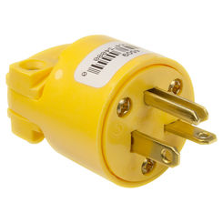 Click here to see Cooper 4509-BOX Cooper 4509-BOX Grounded Straight Electrical Plug, 20 A, 2 P, 3 W, Yellow