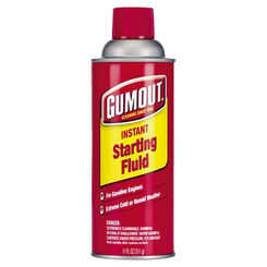 Click here to see Gumout 5072866 Gumout 5072866 Instant Starting Fluid, 11 oz Aerosol Can, Amber Liquid