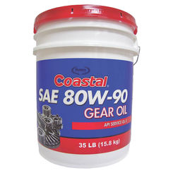 Click here to see Warren 12217 Coastal Premium GL-5 Gear Oil, 35 gal, Pail, Clear Amber, Liquid