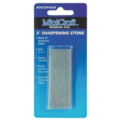 Click here to see Mintcraft A0640203L MintCraft A0640203L Sharpening Stone, 3 in L x 1 in W, 3 Grit