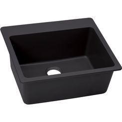 Click here to see Elkay ELX2522CA0 Elkay ELX2522CA0 Quartz Luxe Single Bowl Drop-in Sink, Caviar