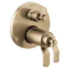 Click here to see Brizo T75535-GLLHP Brizo T75535-GLLHP Litze TempAssure Valve w/ 3-Function Diverter, Less Handles - Luxe Gold