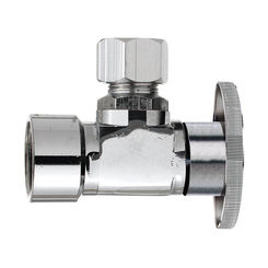 Click here to see Plumb Pak PP20051LF Plumb Pak PP20051LF 1/4 Turn Angle Shut-Off Valve, 1/2 X 3/8 in, FIP X OD, Brass Body, Chrome Plated
