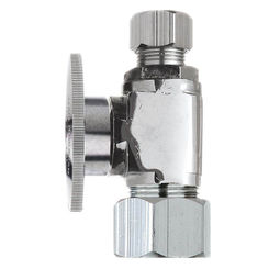 Click here to see Plumb Pak PP63PCLF Plumb Pak PP63PCLF 1/4 Turn Straight Shut-Off Valve, 5/8 X 3/8 in, OD X OD, Brass Body, Chrome Plated
