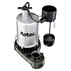 Click here to see Flotec FPZT7550 Flotec FPZT7550 High Output Submersible Sump Pump With Vertical Float Switch, 6660 gph, 1 hp, Zinc