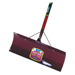 Click here to see Garant NSP24DU Nordic NSP24DU Snow Pusher With Poly D-Grip, 24 in W x 10 in L, Stamped Steel Stained Hardwood