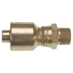 Click here to see Gates G251050604 MegaCrimp G25 Hydraulic Hose Coupling, 3/8 X 1/2 in, Male X Female, Low Carbon Steel
