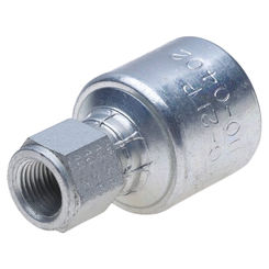 Click here to see Gates G251100404 MegaCrimp G251100404 Hydraulic Hose Coupling, 1/4 in, FNPT, Low Carbon Steel