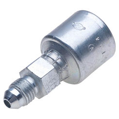 Click here to see Gates G251650406 MegaCrimp G251650406 Hydraulic Hose Coupling, 1/4 in, Male JIC 37 deg Flare, Low Carbon Steel
