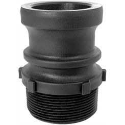 Click here to see Green Leaf GLP150F Gator Lock GLP150F Cam Lever Non-Locking Hose Coupling, 1-1/2 in, Male Adapter x MNPT, 125 psi, Polypropylene