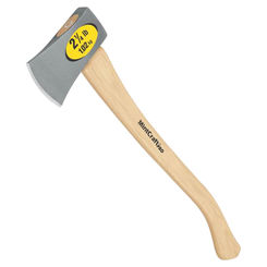 Click here to see Mintcraft HB-21/2H MintCraft HB-21/2H Camper Axe With Handle, 2.5 lb, 28 in OAL, Hickory Wood Handle