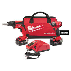 Click here to see Milwaukee 2896-22 Milwaukee 2896-22 M18 FUEL Two tool Combo Kit Drywall Screw Gun And 1/4