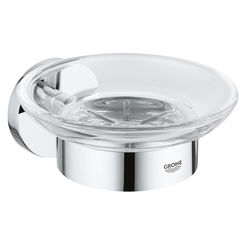 Click here to see Grohe 40444001 Grohe 40444001 Essentials Soap Dish with Holder, Starlight Chrome