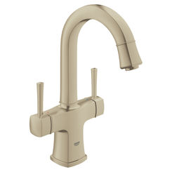 Click here to see Grohe 21108ENA Grohe 21108ENA Grandera 1-Hole 2-Handle Bathroom Faucet, Brushed Nickel
