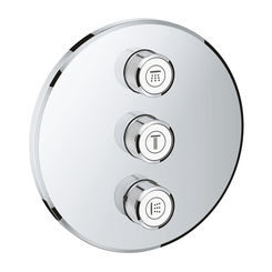 Click here to see Grohe 29122000 Grohe 29122000 Grohtherm SmartControl Triple Volume Control Trim
