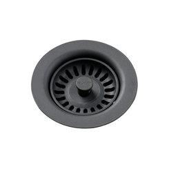 Click here to see Elkay LKQS35CH Elkay Polymer Drain Fitting with Removable Basket Strainer and Rubber Stopper Charcoal - LKQS35CH