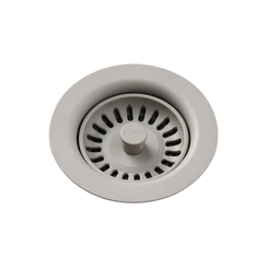 Click here to see Elkay LKQS35GR Elkay Polymer Drain Fitting with Removable Basket Strainer and Rubber Stopper Greige - LKQS35GR