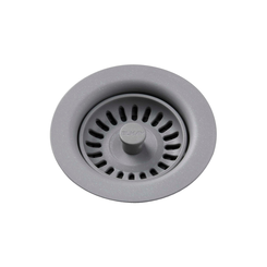 Click here to see Elkay LKQS35GS Elkay Polymer Drain Fitting with Removable Basket Strainer and Rubber Stopper Greystone - LKQS35GS