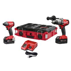 Click here to see   Milwaukee 2897-22PO M18 FUEL Hammer Drill and Impact Driver Combo Kit