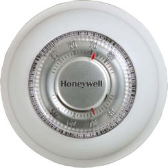 Click here to see Honeywell T87K1007 Honeywell T87K1007 Round Manual Thermostat