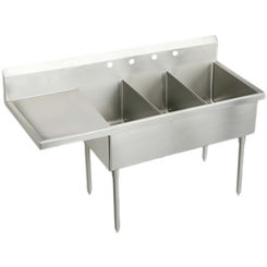 Click here to see Elkay SS8345L2 Elkay SS8345L2 Triple Bowl Stainless Steel Scullery Sink