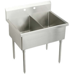 Click here to see Elkay SS82544 Elkay SS82544 Double Bowl Stainless Steel Scullery Sink