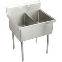 Click here to see Elkay SS82364 Elkay  SS82364 Double Bowl Stainless Steel Scullery Sink