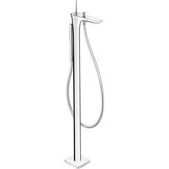 Click here to see Hansgrohe 15477001 Hansgrohe 15477001 PuraVida Freestanding Tub Filler Trim with Handshower, Chrome