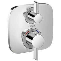 Click here to see Hansgrohe 15708001 Hansgrohe 15708001 SoftCube Ecostat E Thermostatic Trim with Volume Control and Diverter, Chrome