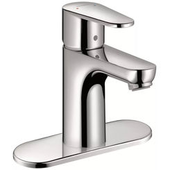 Click here to see Hansgrohe 31612001 Hansgrohe 31612001 Talis E Single-Hole Faucet 80 with Pop-Up Drain, Chrome
