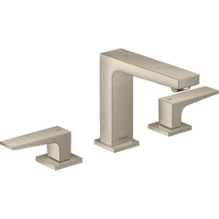 Click here to see Hansgrohe 32518821 Hansgrohe 32518821 Metropol 110 Widespread Faucet with Lever Handles, Brushed Nickel