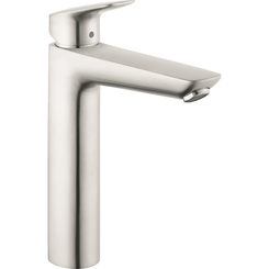Click here to see Hansgrohe 71090821 Hansgrohe 71090821 Logis Single-Hole Faucet 190 with Pop-Up Drain, Brushed Nickel