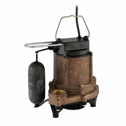 Click here to see Little Giant 511342 Little Giant 511342 10EN-CBA-SFS 1/2 HP Effluent Pump - Cast Bronze