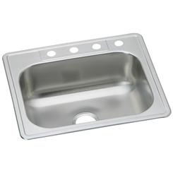 Click here to see Elkay DSE133224 Elkay DSE133224 Dayton Stainless Steel Single Bowl Drop-in Sink, Elite Satin