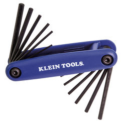 Click here to see Klein 70573 KLEIN 70573 GRIP-IT 12 KEY HEX SET - INCH/METRIC