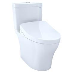Click here to see Toto MW4463046CEMFGA#01  TOTO Aquia  IV  WASHLET+ S500e Two-Piece Toilet - 1.28  GPF & 0.8  GPF - Universal Height - Cotton White - MW4463046CEMFGA#01