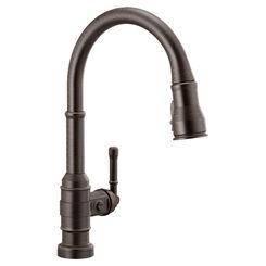 Click here to see Delta 9190T-RB-DST Delta 9190T-RB-DST Broderick One Hande Pulldown Kitchen Faucet w/ Touch2O, Venetian Bronze