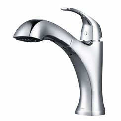 Click here to see Kraus KPF-2252CH KRAUS KPF-2252CH Oren Single Handle Pull-Out Kitchen Faucet - Chrome