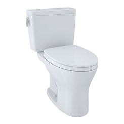 Click here to see Toto CST746CUMFG#01 TOTO Drake 1G Two-Piece Elongated Dual Flush 1.0 and 0.8 GPF Universal Height DYNAMAX TORNADO FLUSH Toilet with CEFIONTECT, Cotton White - CST746CUMFG#01
