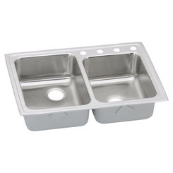 Click here to see Elkay LRAD250454 Elkay LRAD250454 Gourmet (Lustertone) Stainless Steel Double Bowl Top Mount Sink