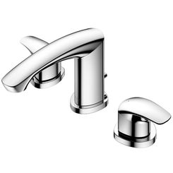 Click here to see Toto TLG09201U#CP TOTO GM 1.2 GPM Two Handle Widespread Bathroom Sink Faucet, Polished Chrome - TLG09201U#CP
