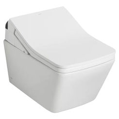Click here to see Toto CT449CFGT60#01 TOTO SP WASHLET+ Wall-Hung Toilet Bowl 1.28 and 0.9 GPF with CEFIONTECT, Cotton White - CT449CFGT60#01