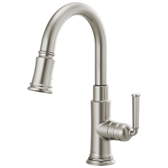 Click here to see Brizo 63974LF-SS BRIZO 63974LF-SS ROOK ONE HANDLE PULLDOWN BAR FAUCET STAINLESS