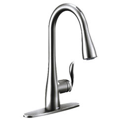 Click here to see Moen 7594EVC Moen 7594EVC Arbor U by Moen Smart Faucet - One-Handle, Pulldown, Chrome