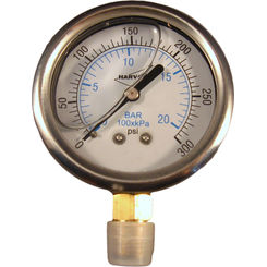 Click here to see American Granby  American Granby ILPG30025-4L Liquid Filled Pressure Gauge, 300PSI,  1/4 MIP
