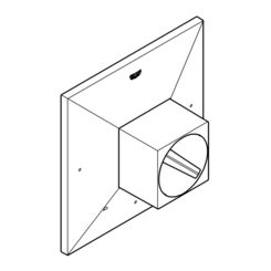 Click here to see Grohe 47891000 Grohe 47891000 Universal Escutcheon